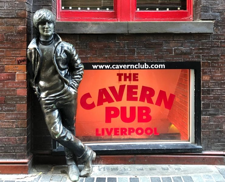 Statue of John Lennon outside the Cavern Club