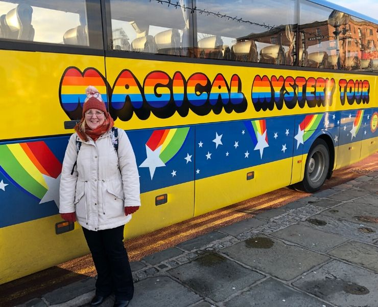 The Magical Mystery Tour bus in Liverpool