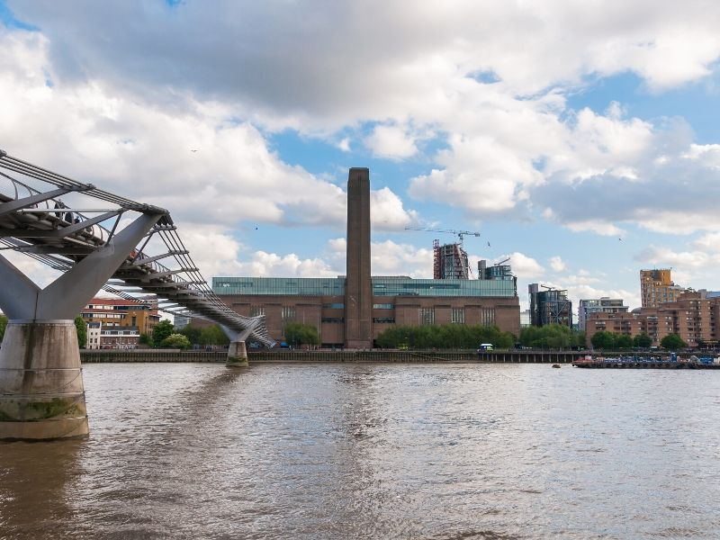 A view of the Tate modern in London