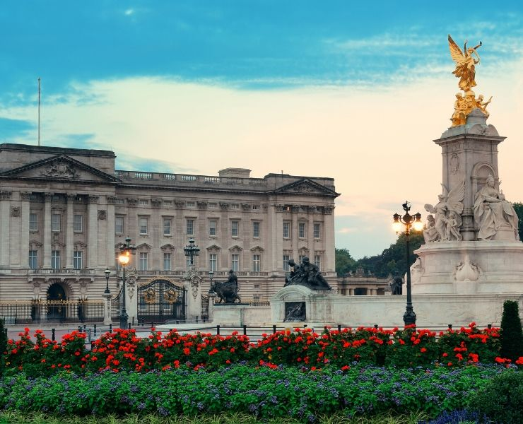 view of buckingham palace in London