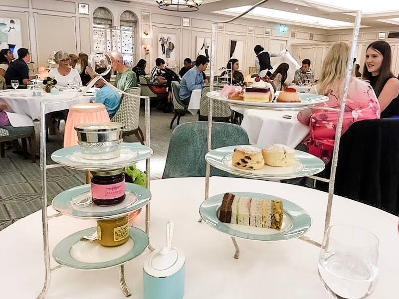 Afternoon tea at Fortnum and Masons in London
