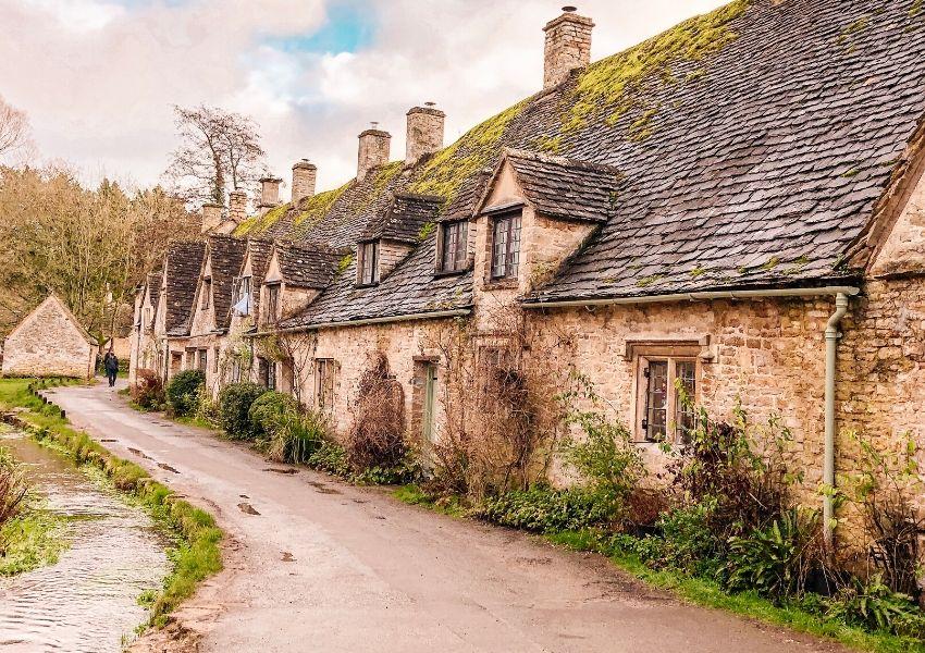 Bibury in the Cotswolds is a popular UK bucket list destination