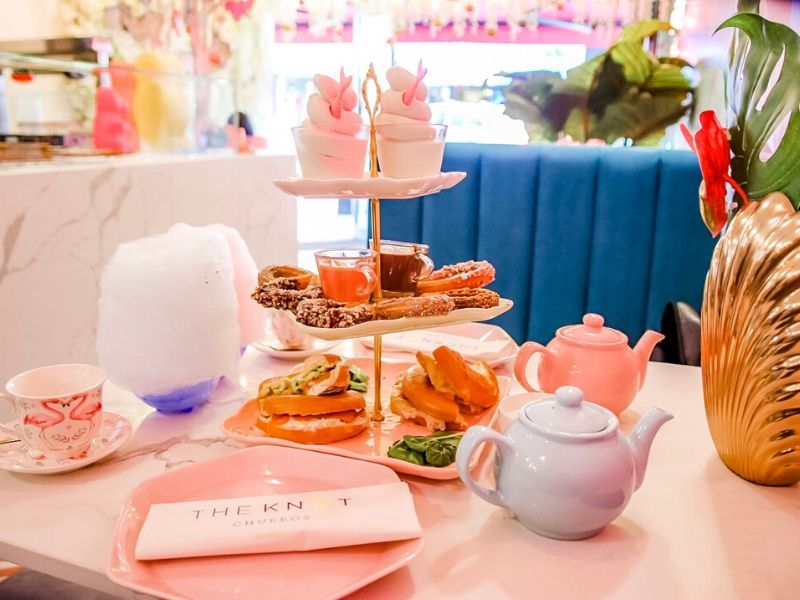 Afternoon tea with an Alice in Wonderland theme
