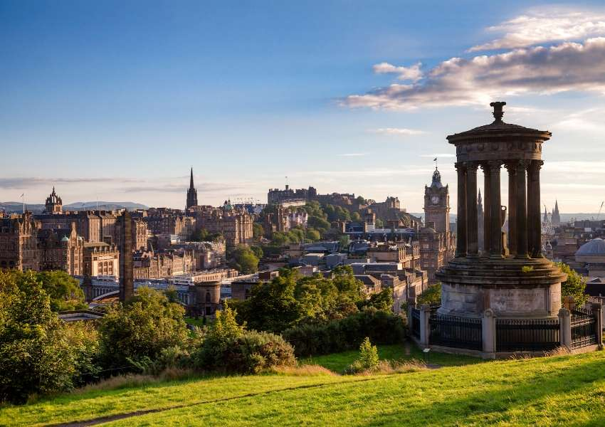 A picture of Edinburgh from Calton Hill
