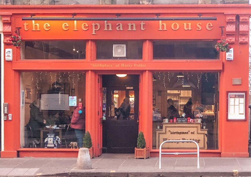 The outside of The Elephant House cafe in Edinburgh