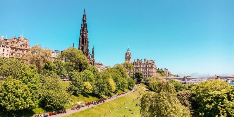 Things to do in Edinburgh include admiring the view of the city from the Royal Mile