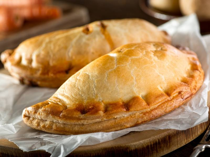 2 Cornish Pasties on a plate
