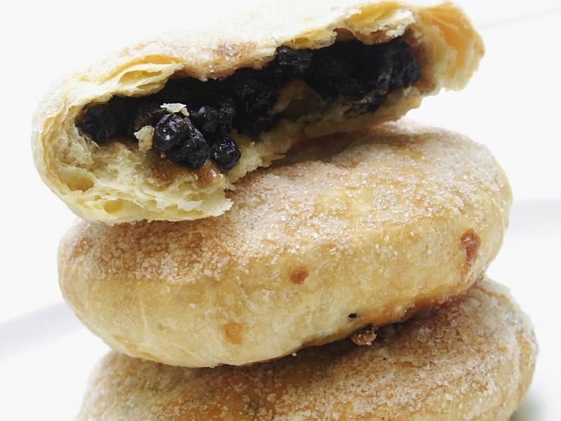 Eccles Cakes piled on top of one another