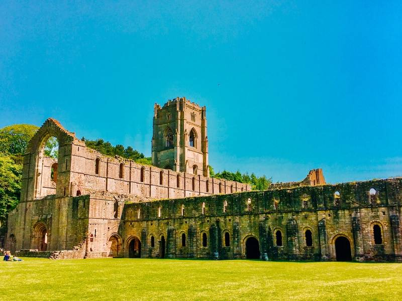 The ruins of an Old Abbey a UNESCO World Heritage Sites in the UK