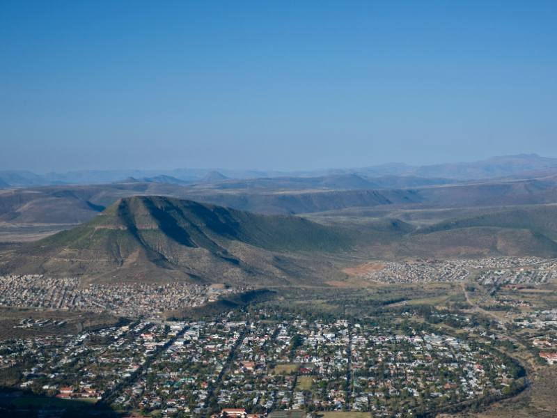 An aerial view of Graaff-Reinet