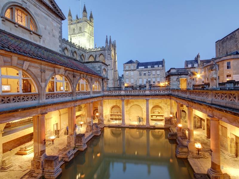 The Roman Baths a UK Unesco World Heritage Site in Bath England