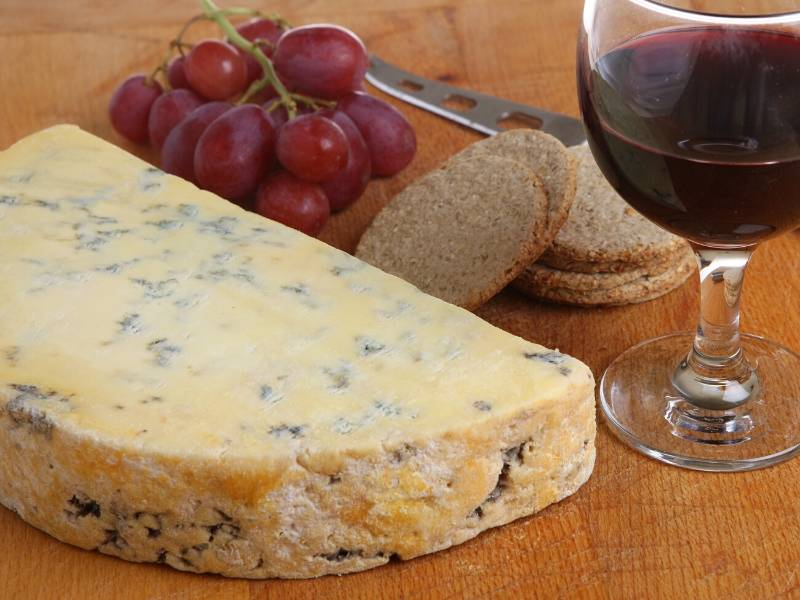 Cheese, grapes and a glass of wine