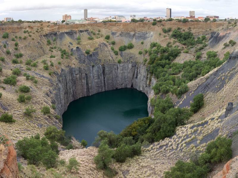 The Big Hole in Kimberley  in South Africa