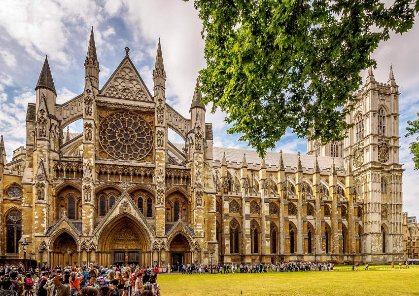 Westminster Abbey in lLondon a UNESCO World Heritage site in England