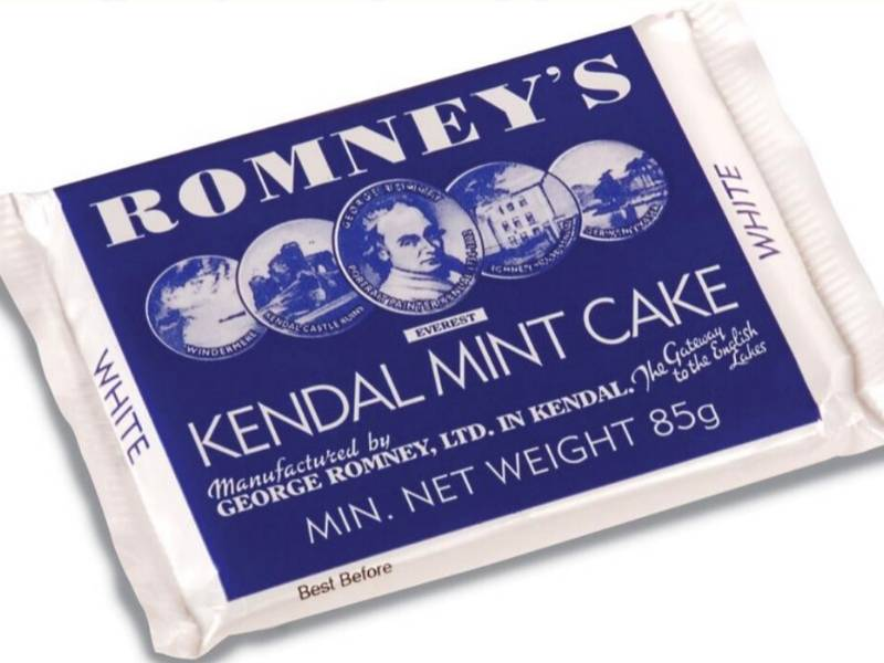 A packet of Kendal Mint Cake
