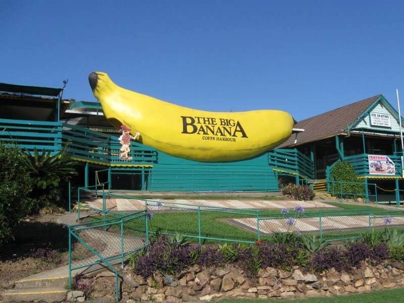 The Big Banana in New South Wales in Australia