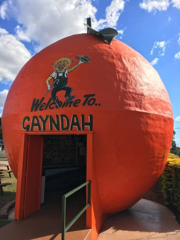 Big orange statue in Australia