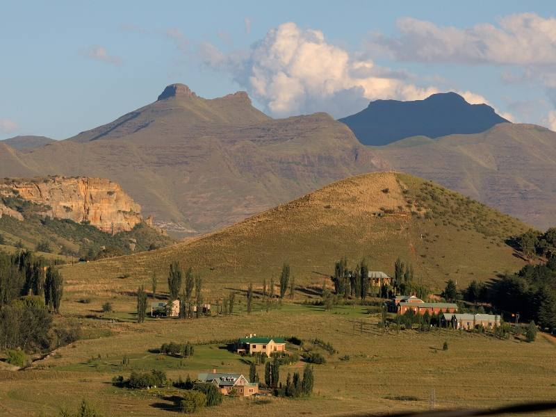 A view of mountains near Clarens in South Africa