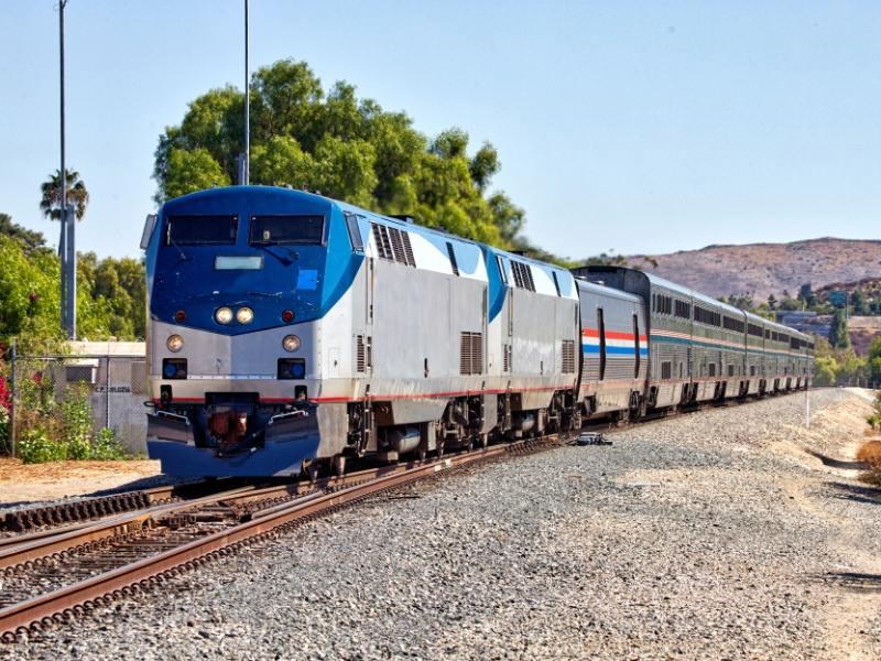 Amtrak Coast Starlight train.