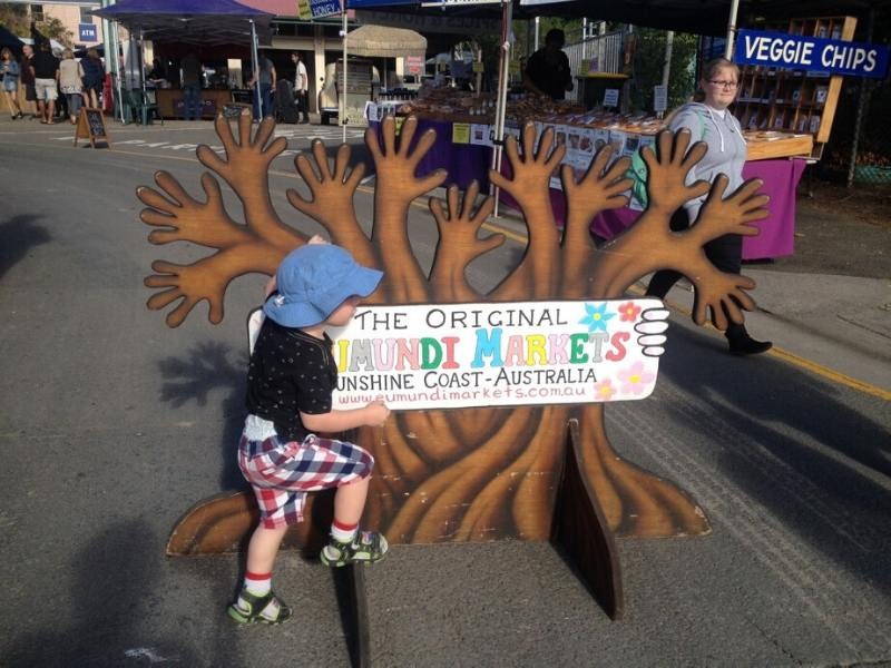 A sign for the Eumundi Markets
