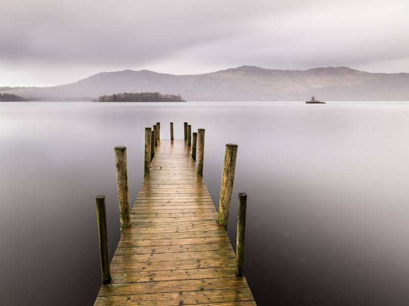 A foggy Lake Windermere