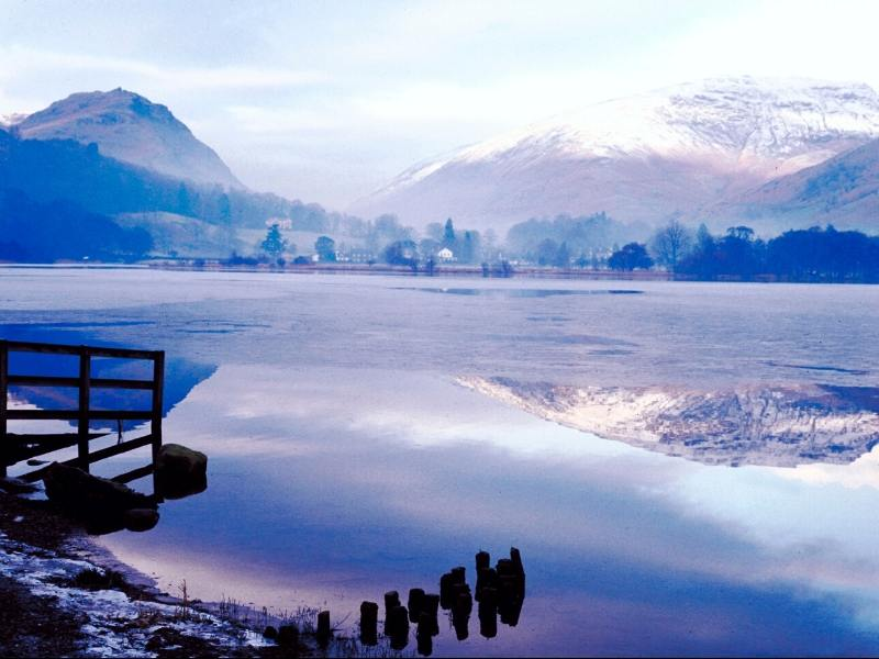 Winter view of Lake Windermere
