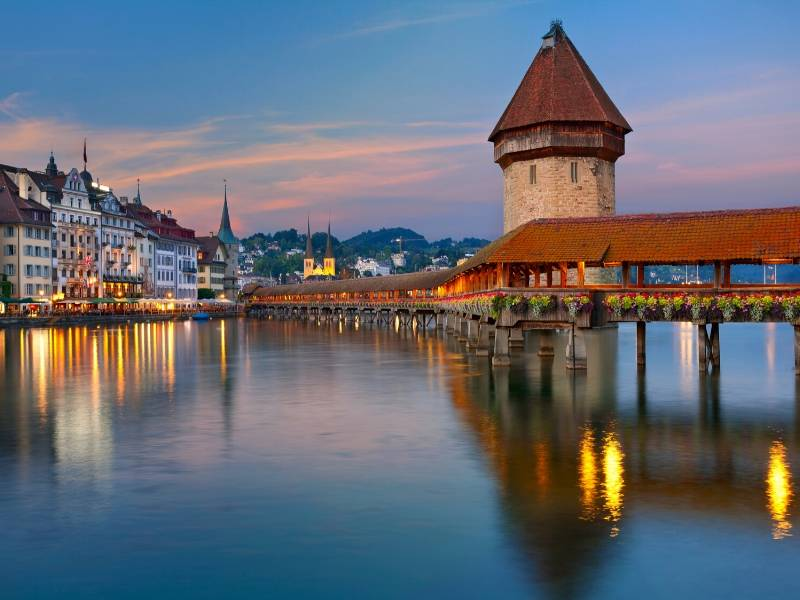 Lucerne Switzerland one of the most beautiful cities in Europe