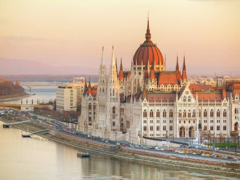 Parliament building in Budapest one of the most beautiful cities in Europe