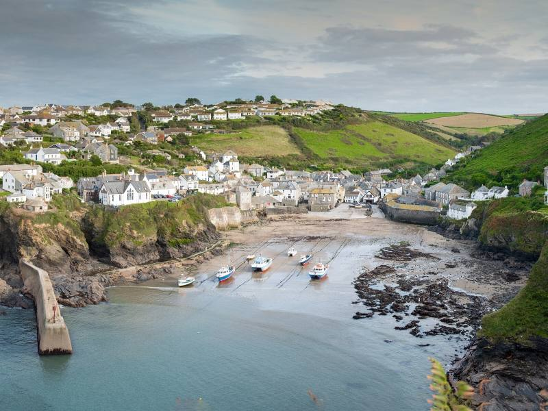 The seaside town of Port Isaac in Cornwall