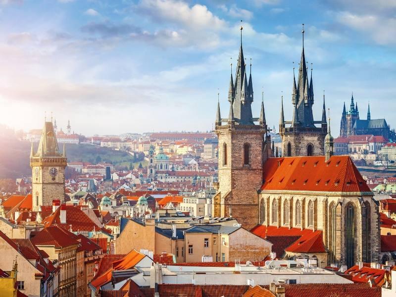 View over Prague city