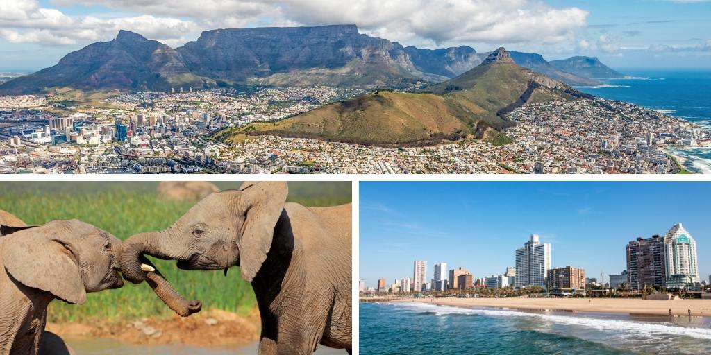 collage of pictures of south africa