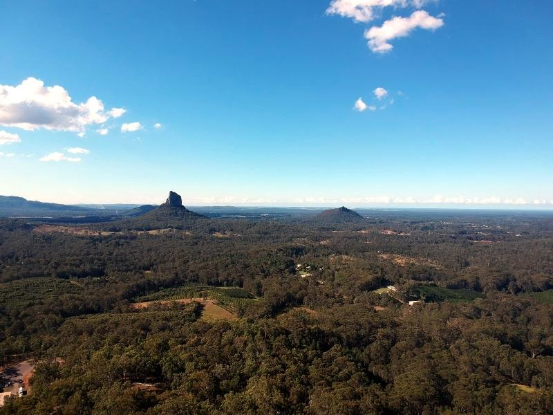 A picture of the Glasshouse Mountains