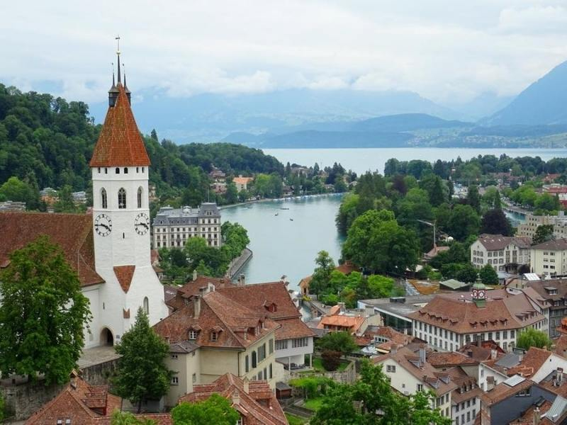 A view over Thun in Switzerland