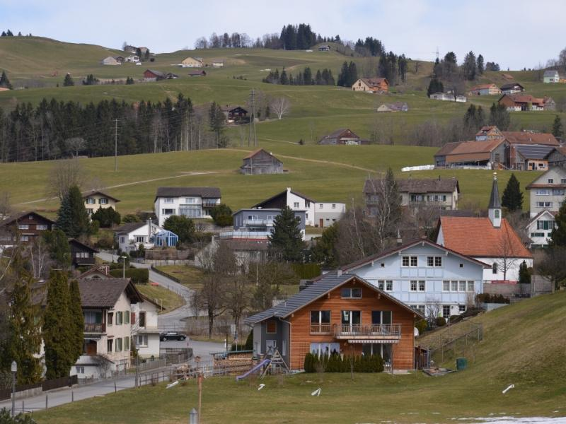 An image of Appenzell which is one of the most beautiful towns in Switzerland