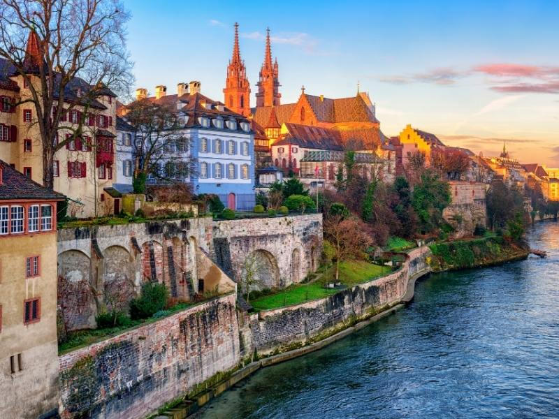 Scenic view of Basel one of the best cities to visit in Switzerland