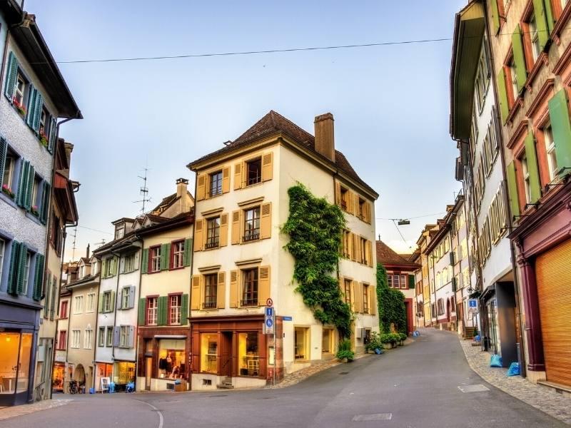 A street view of Basel Switzerland