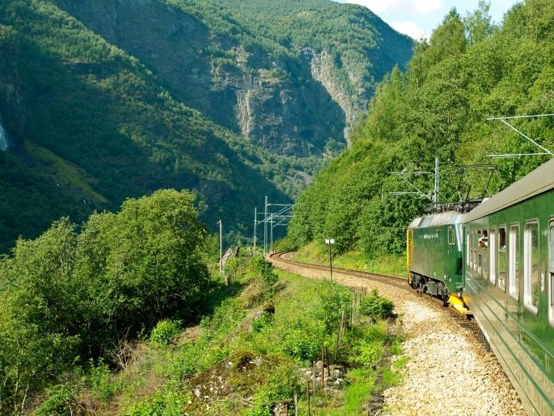 The Flam railway in Norway one of the most scenic train journeys in Europe