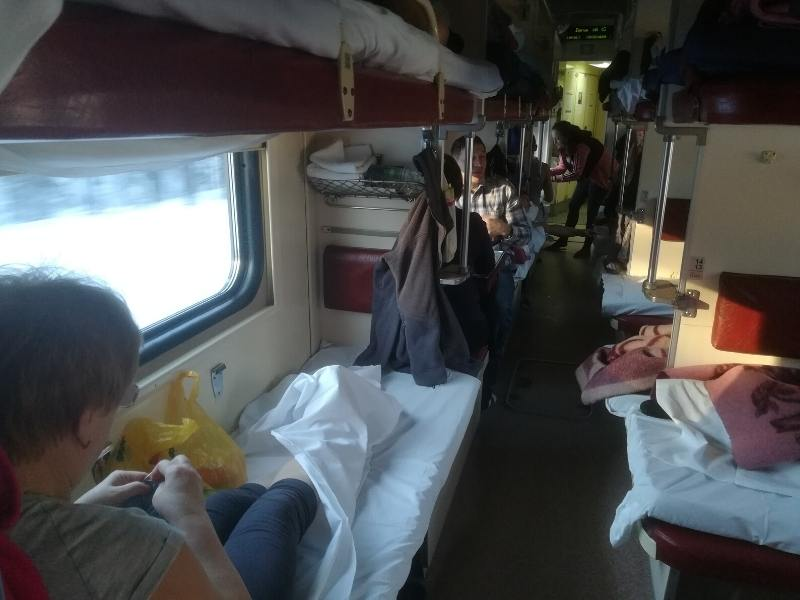 A Russian train carriage