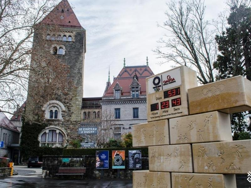 An old tower in Lausanne Switzerland