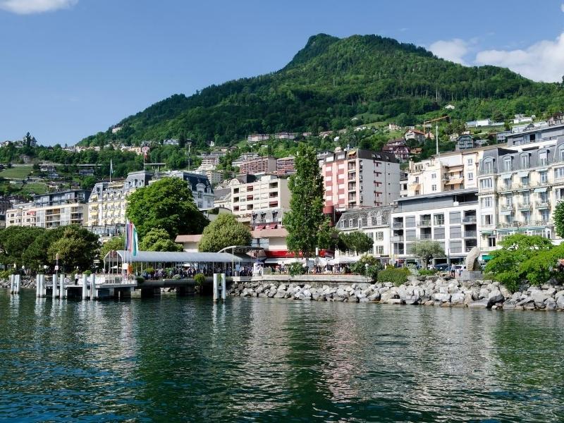 The promenade in Montreuz Switzerland