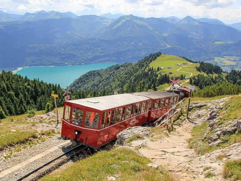 Schafbergbahn train in Austria