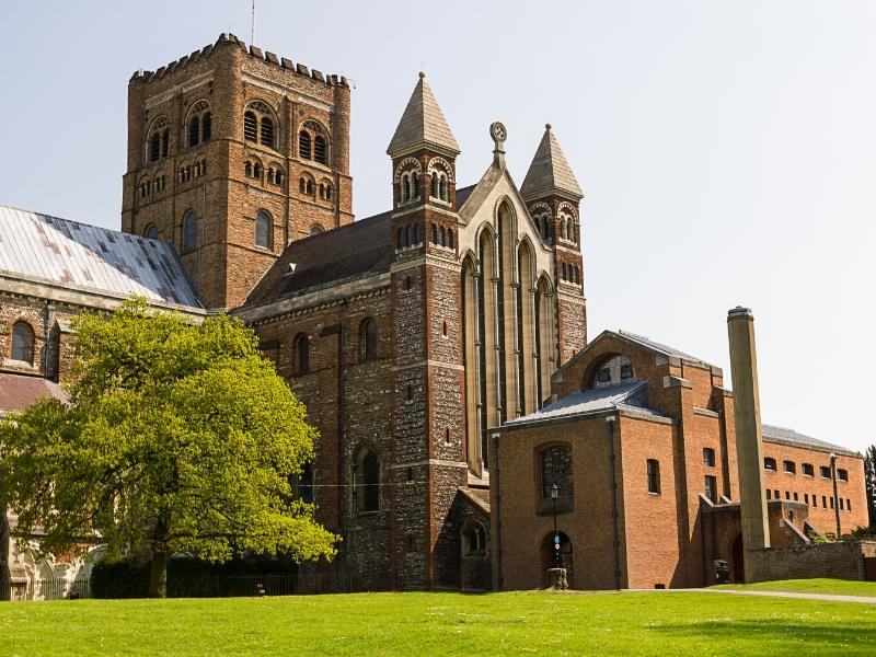 St Albans Abbey and Cathedral one of many easy day trips from London by train