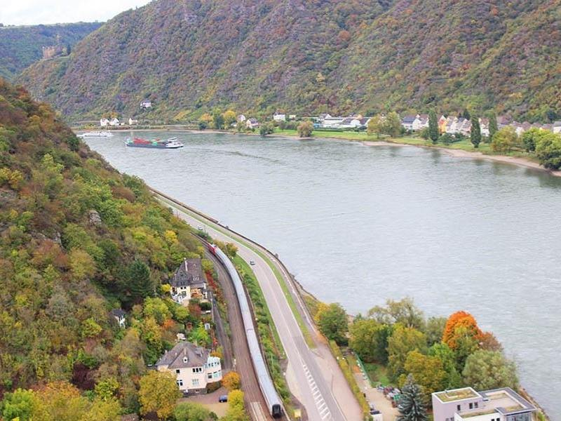 View of the Rhine valley in Germany