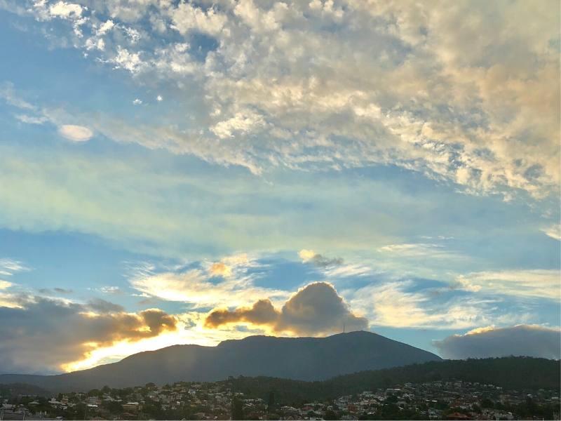 View of Mount Wellington in Hobart Tasmania