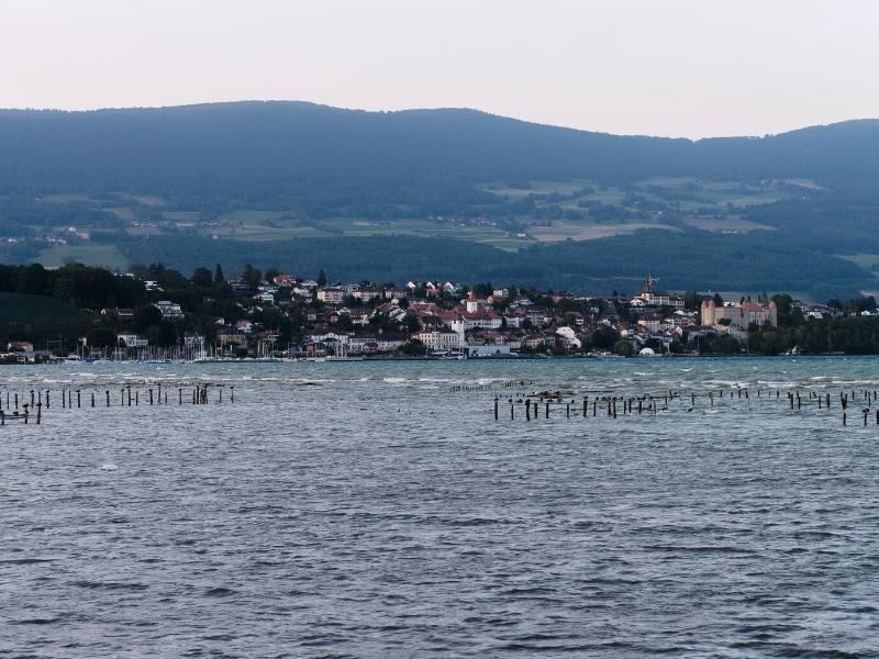 Views over Lake Neuchâtel in Switzerland