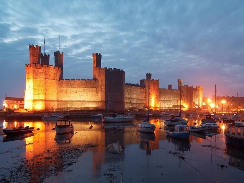 Caernarfon Castle a popular UK bucket list destination