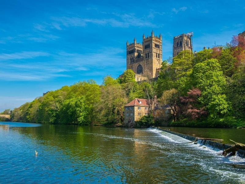Durham Cathedral view from the river