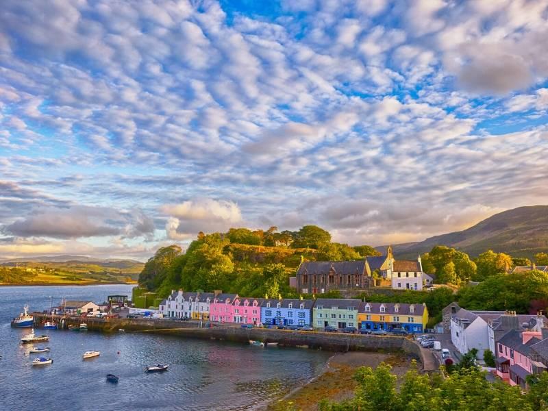 Portree on the Isle of Skye a popular destination on any UK bucket list