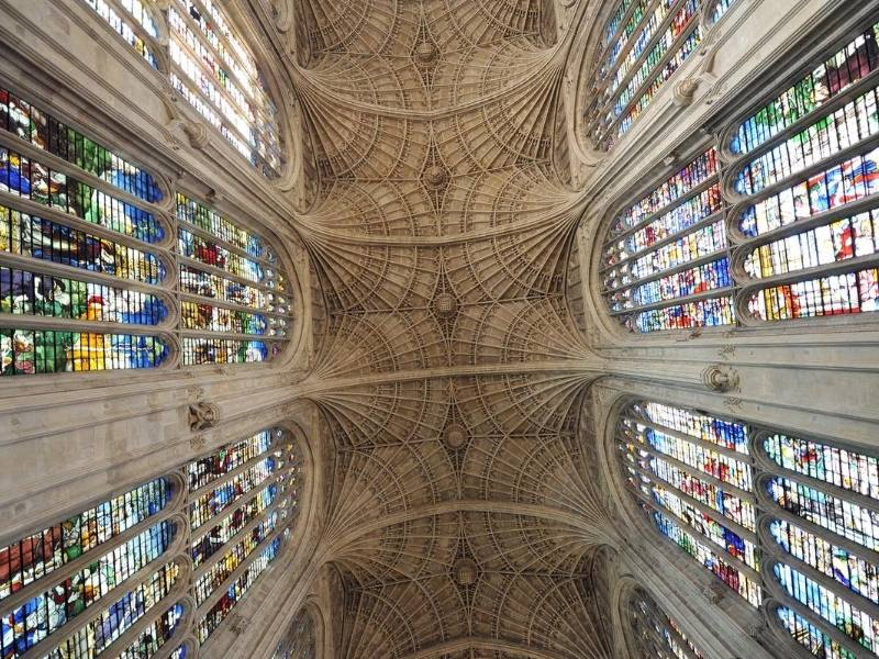 Kings College ceiling in Cambridge England