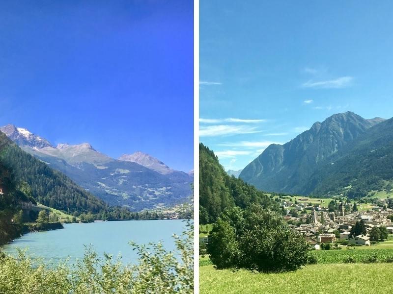 Views of Swiss mountain scenery